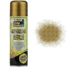 6 x Metallic Gold Spray Paint Interior & Exterior Spray Aerosol Can 200ml