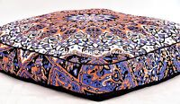 Indian Square Floor Pillow Cover Daybed Star Mandala Ottoman Pouf Dog Bed Hippie
