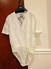 White stretchy lace size 16 all in one