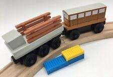 Thomas Wooden Railway Catherine Cart Cargo NEAR MINT 2002 Vintage Train Set Girl