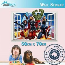 3D Wall Stickers Removable The Avengers Superhero Broken Wall Kid Boy Room Decal
