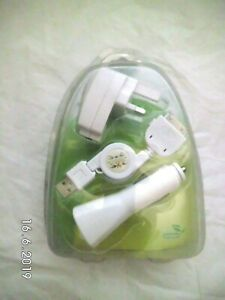 i-Power Car Charger, UK Plug & retractable USB cable for ipod, iphone, ipad