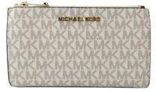 Michael Kors 35F8GTVW0B/35F8STVW0B Vanilla Jet Set Travel Double Zip Wallet