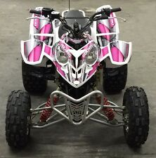 Polaris Predator 500 graphics Quad sticker kit #8800 Hot Pink Design for Girls