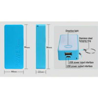 BATTERIA POWERBANK 5600mAh MULTICOLORE USB RICARICABILE CELLULARE pu