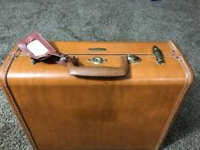 Vintage Samsonite-Brown- Faux Leather-Train Case- Luggage case 4616