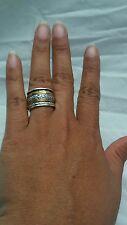 Stunning  Silpada R2293 sterling 925 brass twirl ring spinner ring size 7