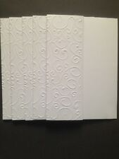 5  A6 White Cards & Envelopes - small embossed fold of front of card