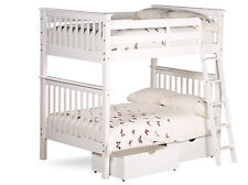 4ft Small Double Malvern Bunk Bed in White