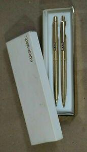 Paper mate Profile Set  Gold Ballpoint  Pen & 0.9mm Pencil  New In Box Usa
