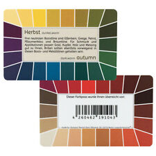 "Farbpass Herbst ""Loop"" - Plastikkarte mit 44 Farben"