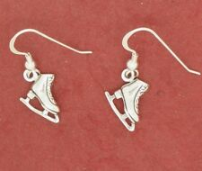 Sterling Silver Ice Skate Boots Earrings Skating New skater gift solid 925
