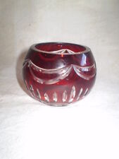 SMALL RED VASE BOHEMIA RED dichroic  CRYSTAL