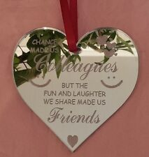 Chance Made Us Colleagues Work Friend Leaving Heart Gift Present Mirror