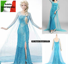 Frozen Vestito Carnevale Donna Elsa Dress up Woman Elsa Cosplay Costume 8899002H