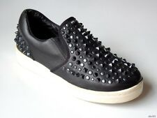 ASH black leather ALL STUDDED SPIKES loafers sneakers shoes 39 US 9 - amazing