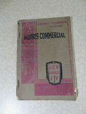Original vintage Morris Commercial FV & ECV truck range owner's manual