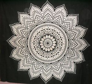 Indian Mandala Tapestry Bohemian Wall Hanging Cotton Bedspread Blanket Bedcover