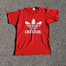 Adidas Trefoil 1980s T-Shirt Men's SZ Medium Single Stitched Rare Made in USA