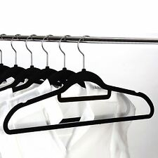 NON-SLIP THIN ADULT VELVET HANGERS TOUCH SPACE SAVING COAT CLOTHES ADULT HANGERS