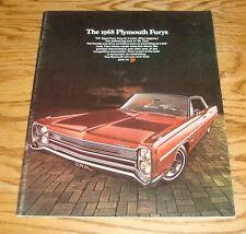 Original 1968 Plymouth Fury Sales Brochure 68 I II III Sport VIP Wagon