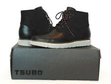 TSUBO HOSHI MEN'S BLACK LEATHER LACE UP ,BOOTS  US 11.5, NEW IN BOX