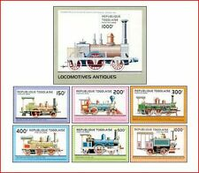 TOG9602 Old railways 6 stamps and block