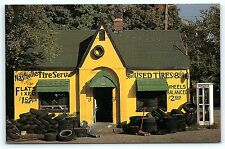 Postcard TN Nashville Tire Service Betty Browns $1.59 Flats Telephone Booth R51