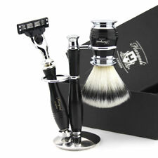 New Cartridge Razor (3 Edge) and Synthetic Brush Stand, Shaving Set for Men's 3X