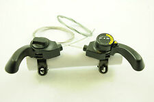 PAIR FALCON MTB TOP SHIFTER GEAR LEVERS FOR 12 or 18 SPEED ATB & ALL BIKES