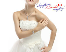 Elegant 18K GP Bridal Party Super Shining CZ Irregular Necklace