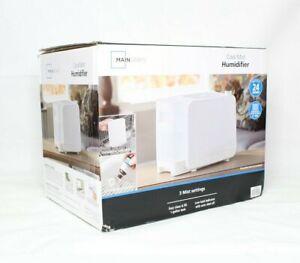 Mainstays Cool Mist Humidifier, 1 gal, MDH-0103JW Black New