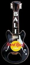 Hard Rock Cafe BALI BLACK Bottle Opener Guitar Magnet.