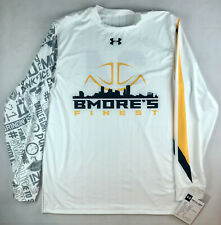 Ua Mens L Baltimore'S Finest Armourfuse Ls Shooter Shirt #24 White Ujtlscm K9