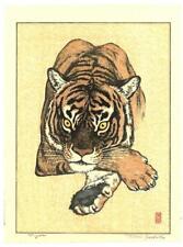 Yoshida Toshi - #012601 Tiger #2 - Japanese Woodblock Print