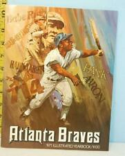 1971 Atlanta Braves Illustrated Baseball Yearbook Hank Aaron Babe Ruth Cover