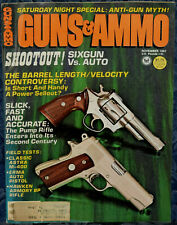 Magazine GUNS & AMMO November 1981 ASTRA 400 9mm PISTOL, ERMA/EXCAM Model RX-22