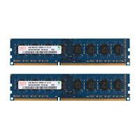 Para Hynix 8GB 2x4GB PC3-12800 DDR3 1600MHz 2Rx8 240Pin DIMM Desktop de memoria