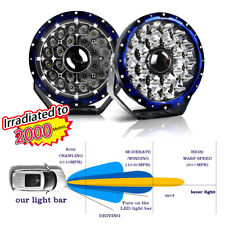 2pcs 9inch Round Laser LED + DRL Spot Driving LED Lights Offroad 4x4 ATV Work