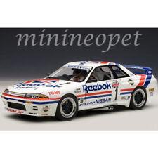 AUTOAart 89081 NISSAN SKYLINE GT-R R32 GROUP A 1990 REEBOK #1 1/18 with FIGURE