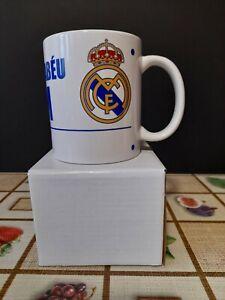REAL MADRID FC Bernabeu White 11oz Official Crested Coffee Mug FREE POST UK