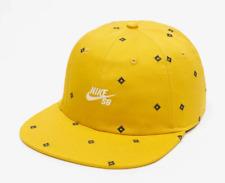 NIKE SB HERITAGE86 SKATE DIAMOND PRINT FLAT BILL HAT CAP DARK SULPHUR CK1775-743