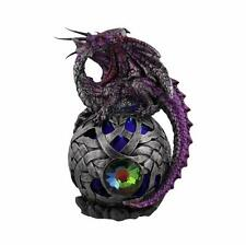Purple Mystical Dragon Figurine On Ball New Boxed 68947