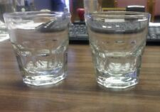 (TWO GLASSES) 12 oz NEW ORLEANS DRINK GLASS DOUBLE ROCK DURATUFF ANCHOR 90010