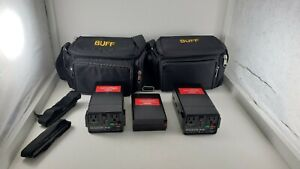 Lot of 2 BUFF Vagabond Mini Lithium Battery Hight capacity battery charger/ Bags