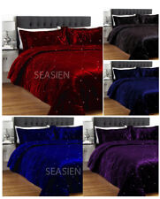 5 PC King Crystal Quilted / Duvet / Comforter / Quilt Velvet Bedspread Set