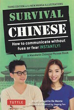 Survival Chinese Phrasebook *FREE SHIPPING - NEW*