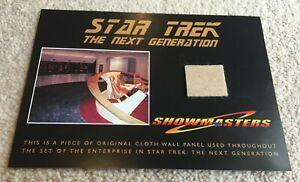 Star Trek Next Generation ORIGINAL CLOTH WALL PANEL piece from Showmasters