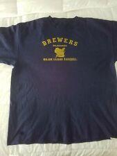Used - Milwaukee Brewers Mens Shirt Adult 2Xl - Blue Mlb Baseball