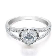 Fashion Princess Women Rose Gold Silver Rhinestone Crown Ring Size 5 6 7 8 9 New